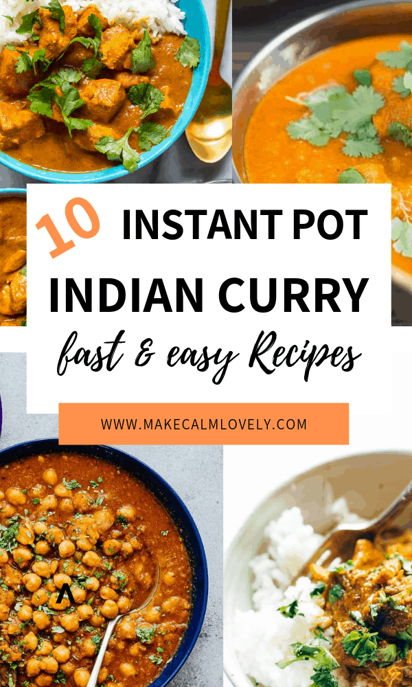 Instant Pot Indian curries