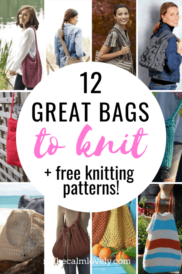 12 Great bags to knit with free knitting patterns