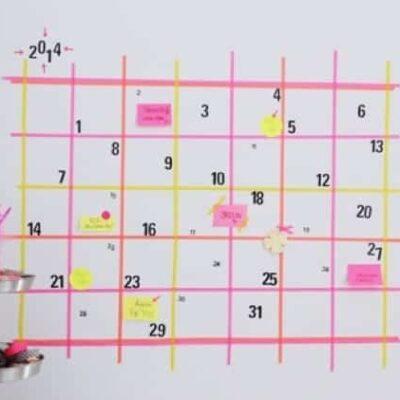15 Organizing projects using Washi Tape