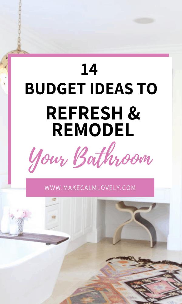 Budget bathroom refresh