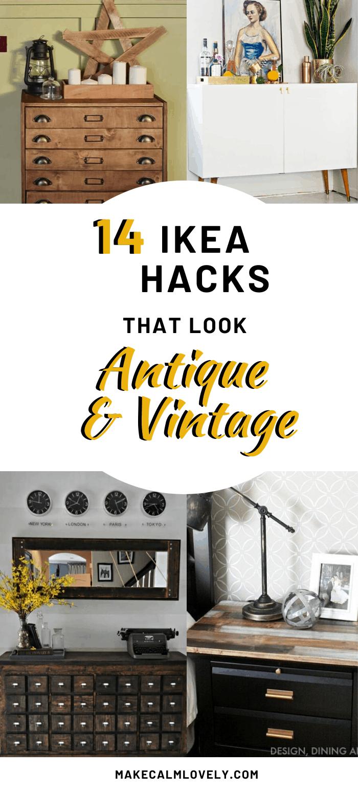 14 DIY IKEA Hacks that look Antique and Vintage