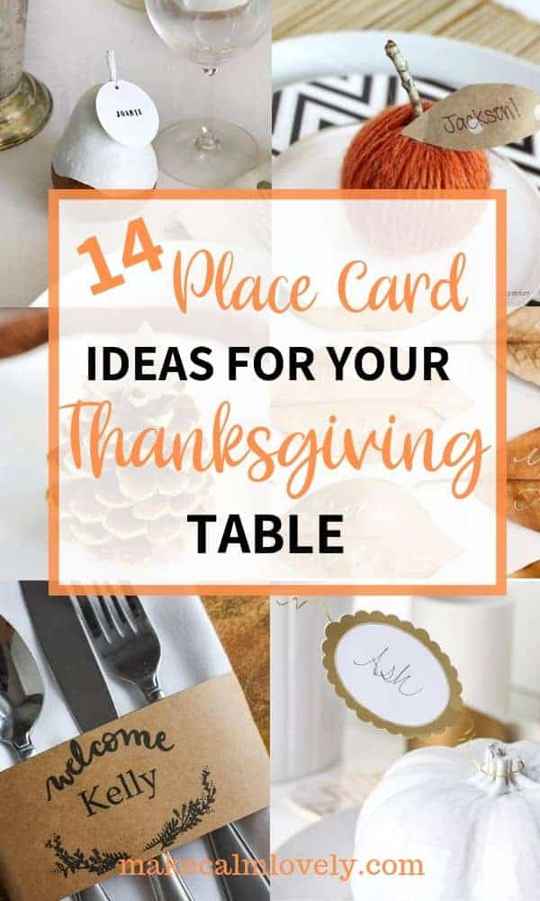 14 Great Place Card Ideas for your Thanksgiving Table #Thanksgiving #placecard #decor #fall