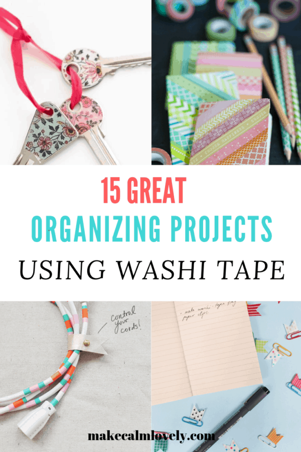 15 Great Organizing projects using Washi Tape