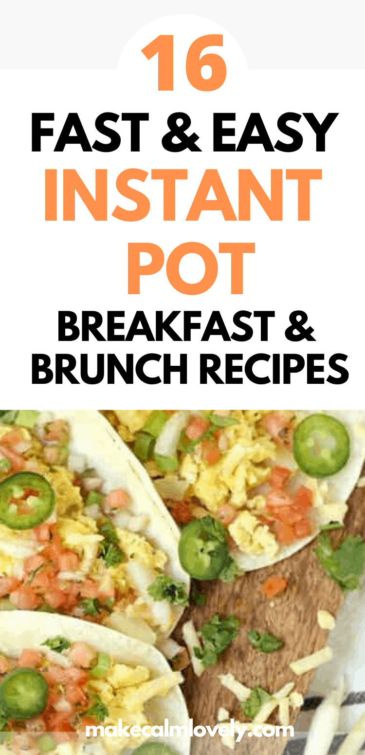 Instant Pot Breakfast and Brunch recipes