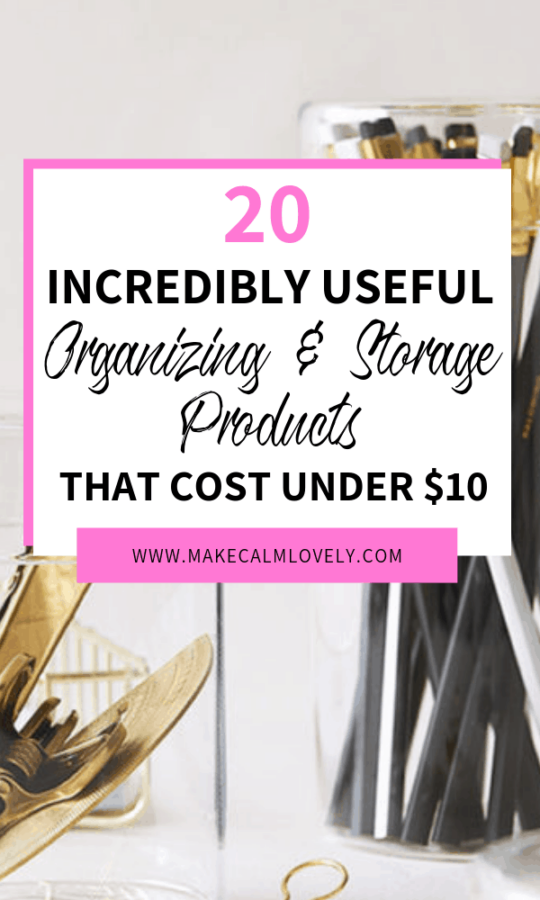 20 incredibly useful storage and organizing products, that cost under $10