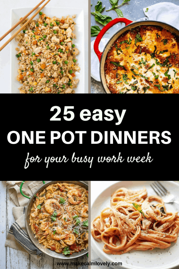 25 Easy one pot dinners for your busy work week