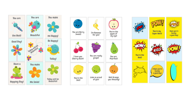 Over 120 Printable Lunchbox notes for your kids lunchbox!