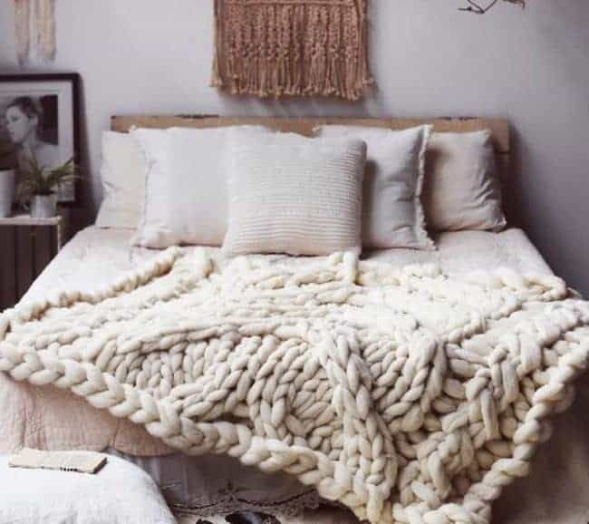 Arm knitted blanket