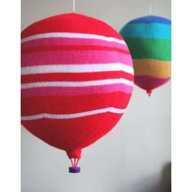 Knitted hot air balloons knitting pattern