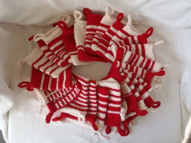 Knitted Christmas bags