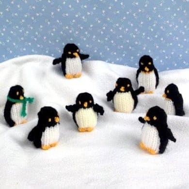 Knitted penguins knitting pattern