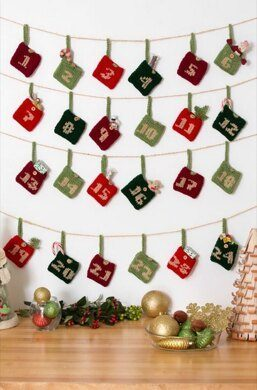 10 Holiday Advent Calendars to Knit & Crochet #Holiday #Christmas #Advent #Calendar #Knit #Crochet #knitting #crocheting