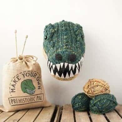 Knitted Dinosaur head knitting pattern