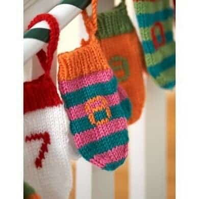 Knitted Christmas mittens