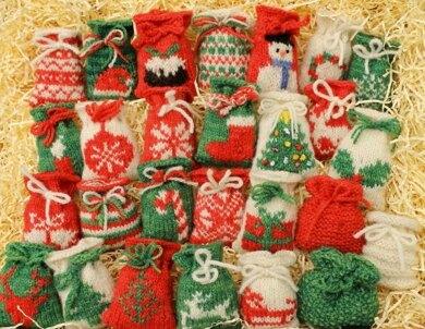 Knitted Christmas sacks