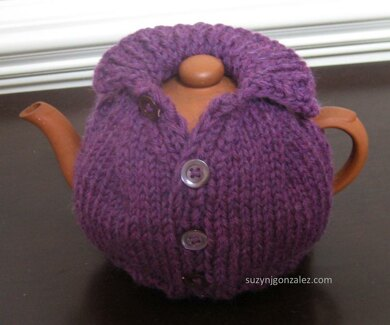 Knitted 'sexy tea cozy knitting pattern