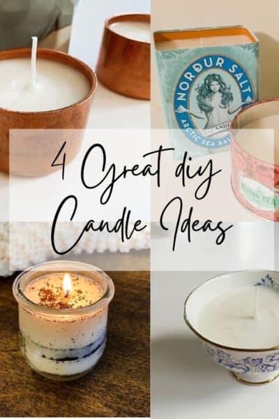4 DIY candle ideas.