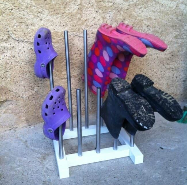 Welly Rack. DIY IKEA hack