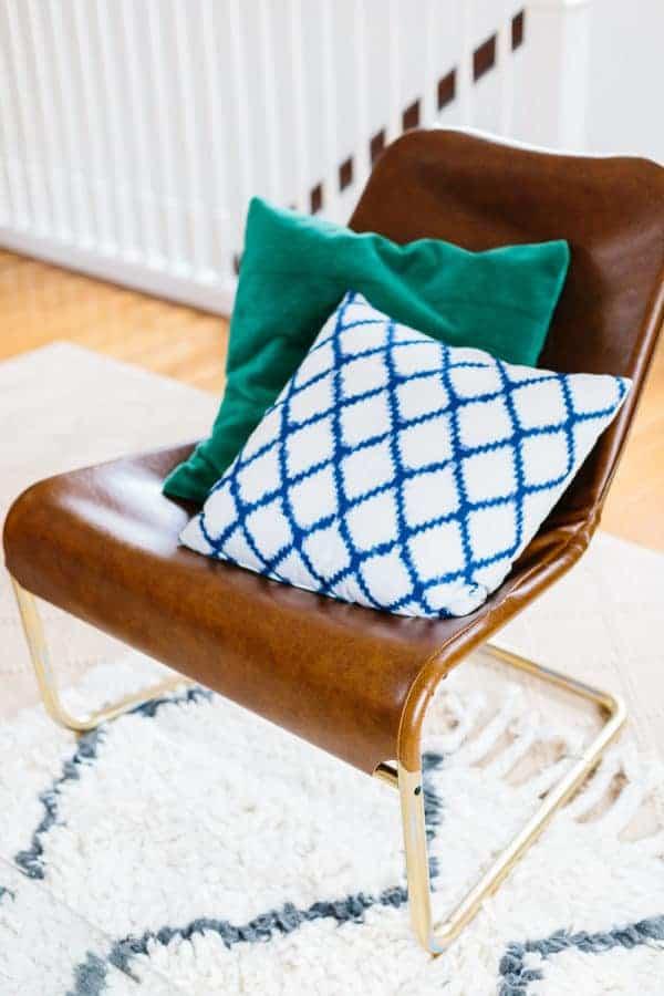 Leather Lounge chair IKEA hack
