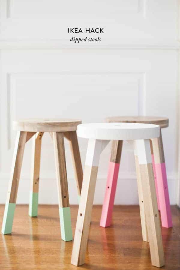IKEA dipped stools hack