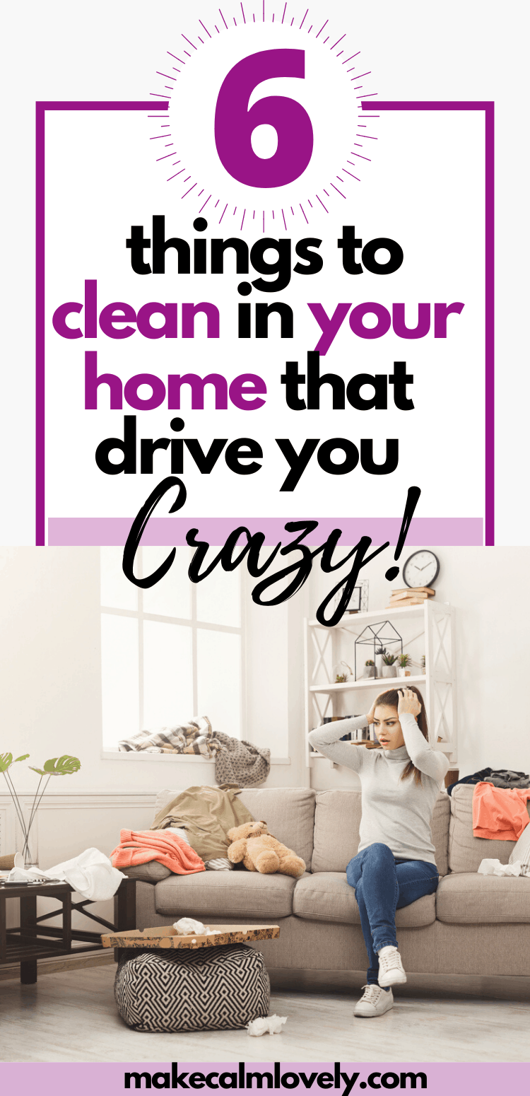 6 Things to Clean in your home that drive you the craziest! Clean these 6 areas of your home right now when you have more time