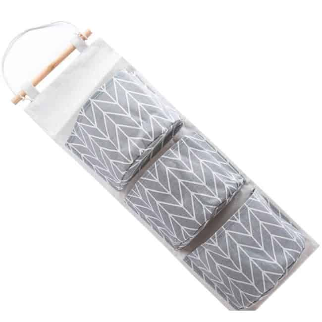 Great home storage and organizing products. Hanging fabric storage for the back of your door