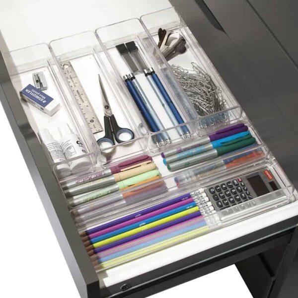 Plastic drawer organizers