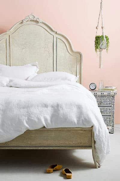 Bed with beautiful headboard