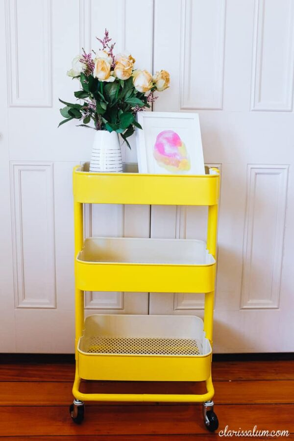 15 Great uses for the IKEA Raskog cart #IKEA #IKEA Hacks #Hacks #Raskog #cart