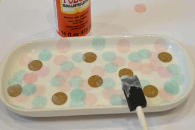 confetti platter