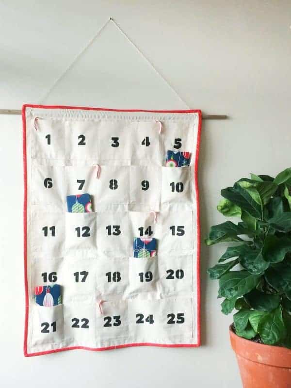 Sewed advent calendar