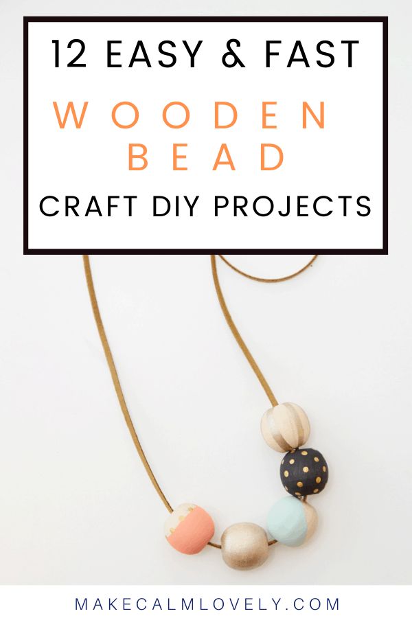 12 Wooden Bead Craft DIYs