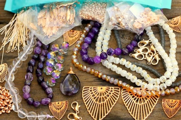 Bead jewelry subscription box