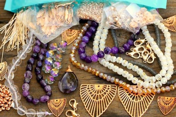 Bead jewelry subscription box
