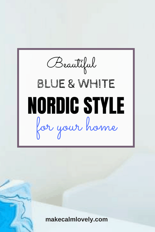 Beautiful blue & white Nordic style for your home