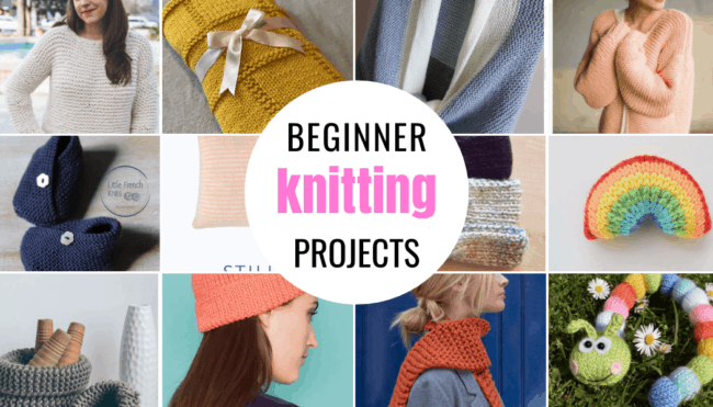 Beginner knitting patterns and projects