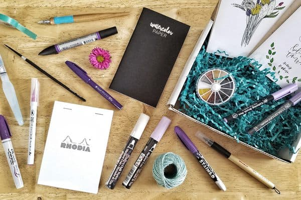 Calligraphy subscription box