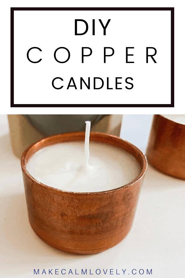 Velas de cobre DIY