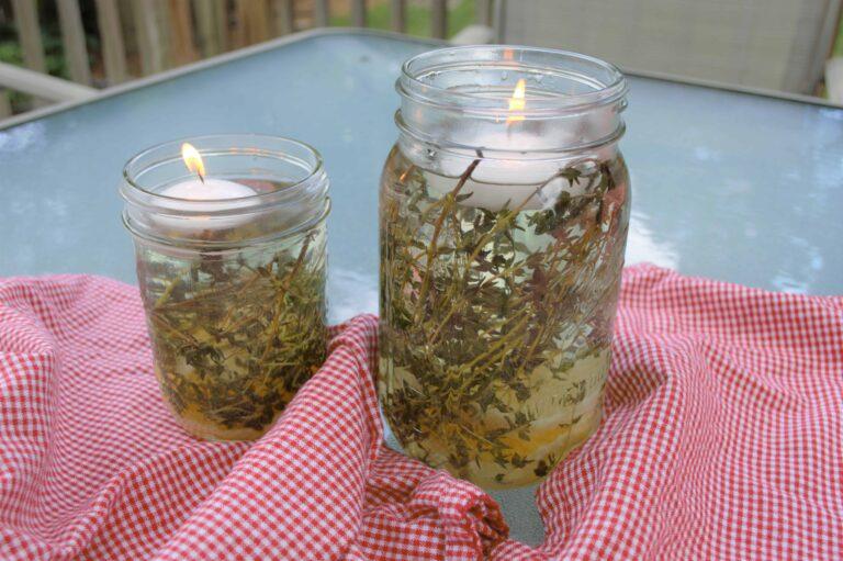 DIY Citronella Outdoor Candle