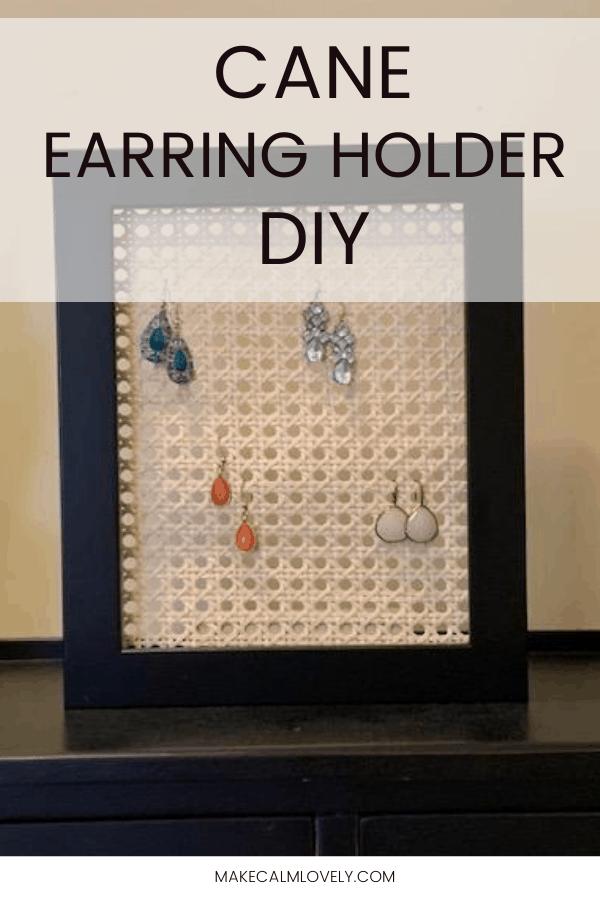 Cane Earring Holder