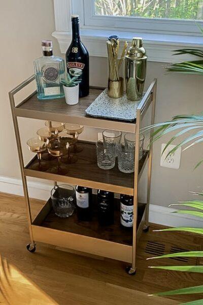 DIY Bar Cart IKEA Hack