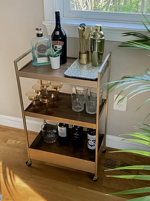 DIY Bar Cart IKEA Hack
