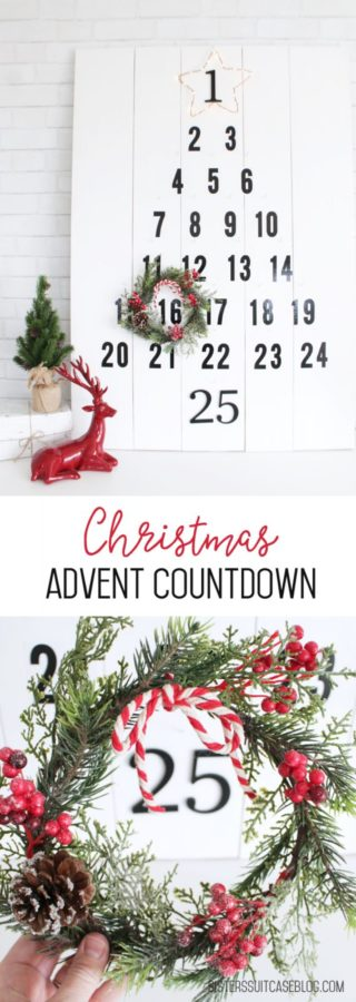 Countdown advent calendar