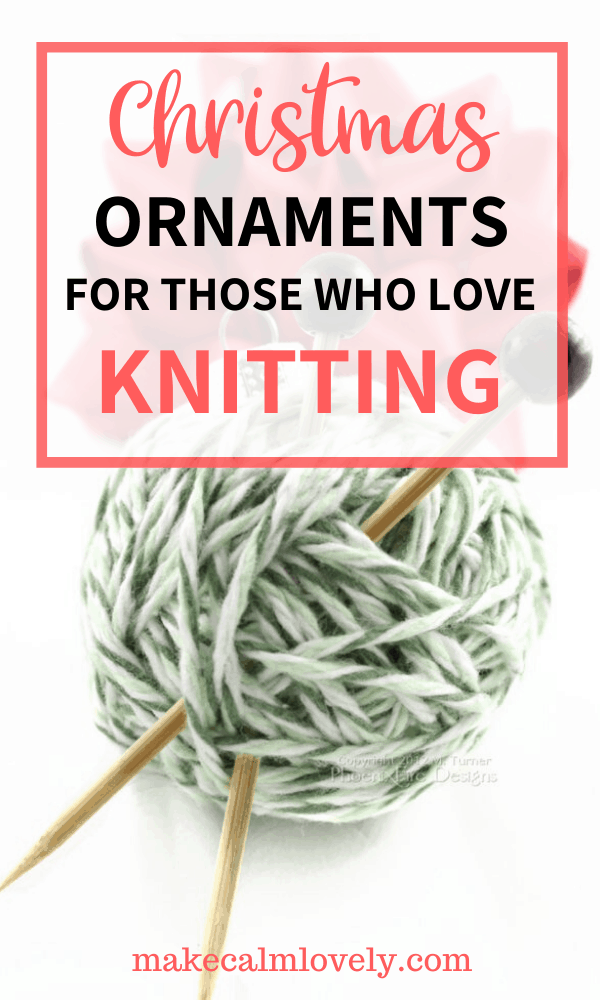 Christmas ornaments for those who love Knitting #Christmas #Holidays #knitting #knit #gift guide #ornaments #tree ornaments #affiliate