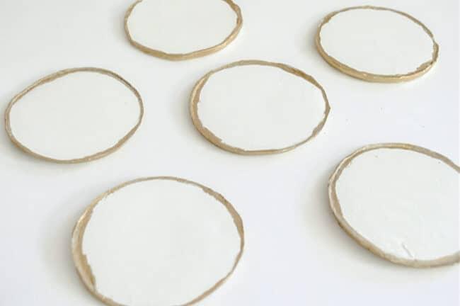 Clay Gold Leaf Coasters