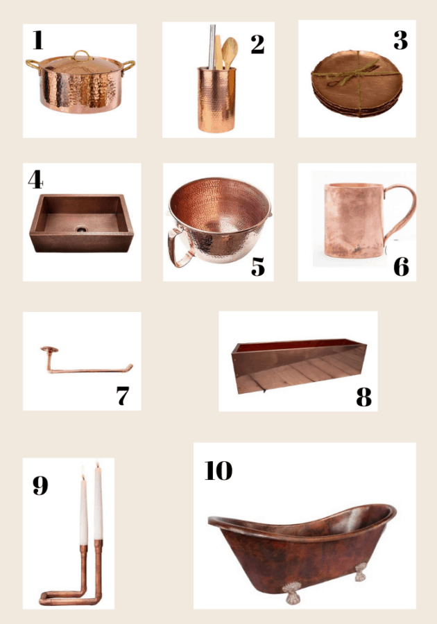 10 Pretty Copper Creations for your home