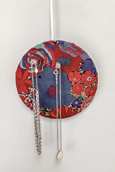 Floral Cork Jewelry holder.