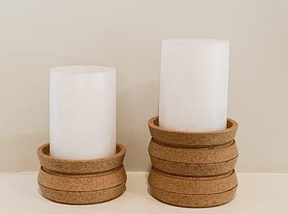 Cork candlesticks.