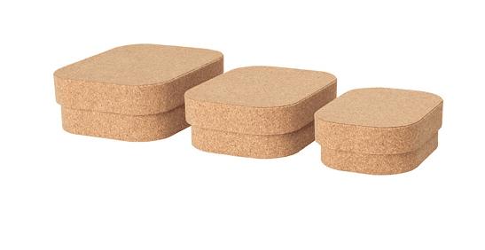 Cork storage boxes