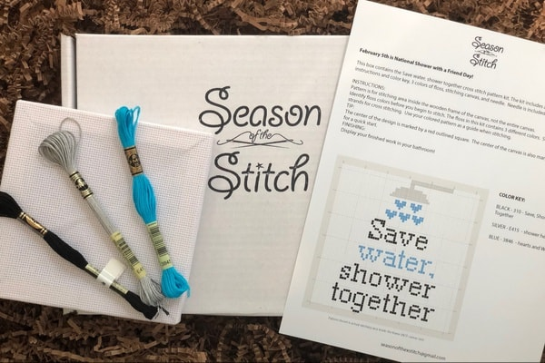 Cross stitch subscription box